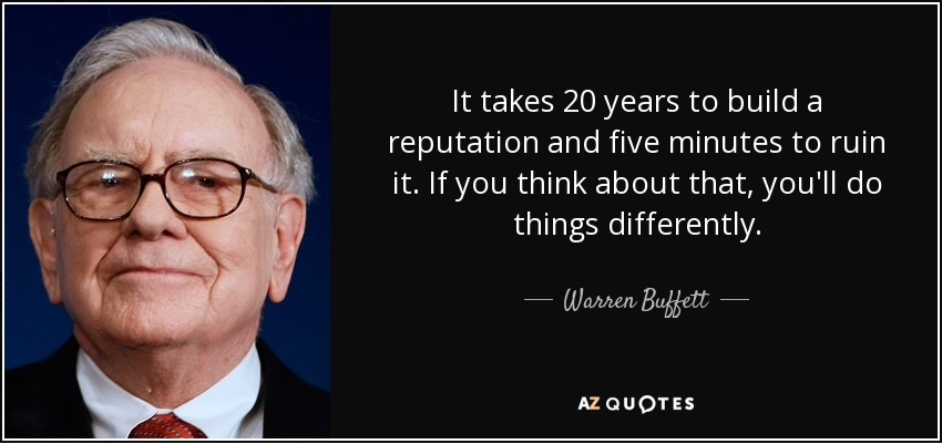 Corporate Social Responsibility Warren Buffett Quote