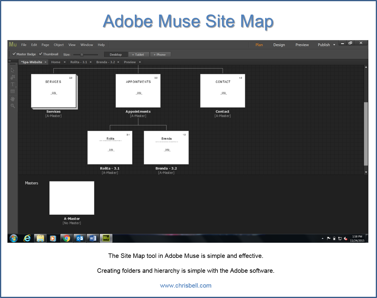 Spa Site in Adobe Muse